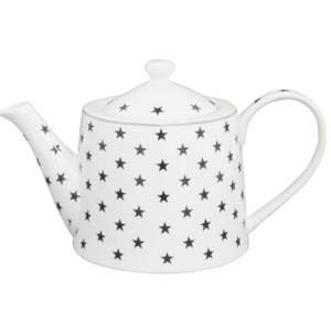 Porcelánová konvice na čaj Charcoal Star 1000 ml (TEA04)