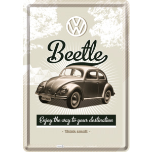Nostalgic Art Plechová pohlednice - VW Beetle (Enjoy the Way to Yors Destination)