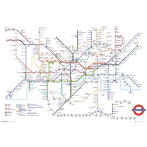 Plakát, Obraz - Transport For London - Underground Map, (91,5 x 61 cm)