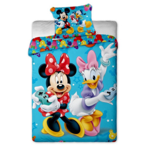 Jerry Fabrics bavlna povlečení Mickey and Minnie games 140x200 70x90
