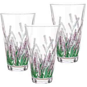 Banquet Sada sklenic CITY LAVENDER long 340 ml, 3 ks