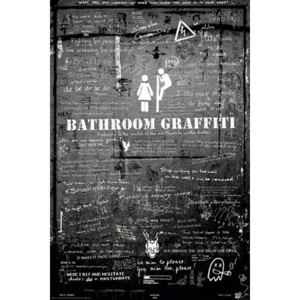 Plakát - Bathroom Graffitti