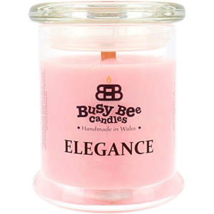Busy Bee Candles Elegance praskající svíčka Rose & Coconut