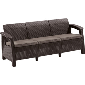 Allibert CORFU LOVE SEAT MAX hnědá