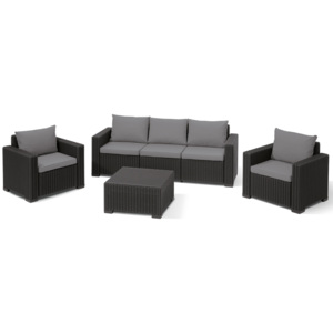 Allibert CALIFORNIA 3 SEATERS set - antracit