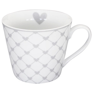 HRNEK GREY HEARTS - PORCELÁN - 350 ML