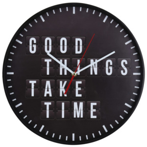 Nástěnné hodiny GOOD THINGS TAKE TIME, Ø 30 Segnale
