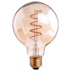 ACA DECOR EDISON LED žárovka G95 Gold
