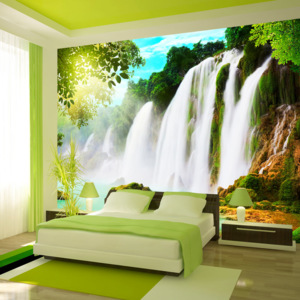 Bimago Fototapeta - The beauty of nature: Waterfall 150x105 cm