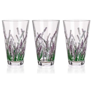 Banquet Sada sklenic CITY LAVENDER long 340 ml, 3 ks LEVANDULE