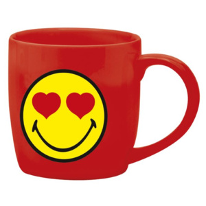 Hrnek Zak Designs Smiley Emoticon porcelán červená 150 ml