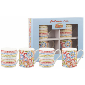 Sada 4 hrnků z kostního porcelánu Churchill China Caravan, 250 ml