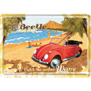 Nostalgic Art Plechová pohlednice - VW Beetle (Catch the Perfect Wave)