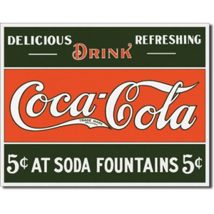 Cedule - COKE 5 cents at Fountain