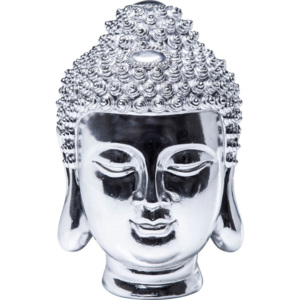 Budha Kare Design hlava Chrome