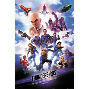 Plakát, Obraz - Thunderbirds Are Go - Keyart, (61 x 91,5 cm)