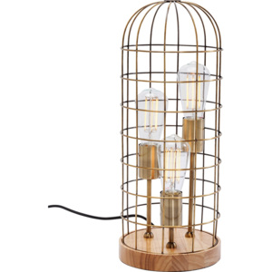 Stolní lampa Cage Tre Wood