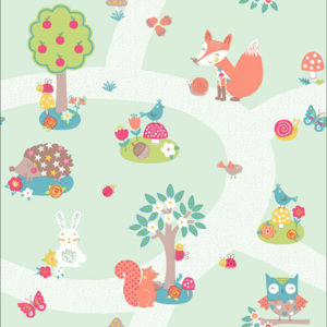 Arthouse Tapeta na zeď - Arthouse Forest Friends Forest Friends Mint