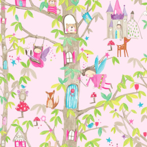 Arthouse Tapeta na zeď - Arthouse Woodland Fairies Woodland Fairies Pink