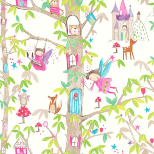Arthouse Tapeta na zeď - Arthouse Woodland Fairies Woodland Fairies White FAVI.cz