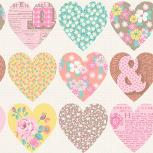 Arthouse Tapeta na zeď - Arthouse Patchwork Heart Patchwork Heart Pastel FAVI.cz