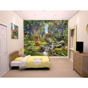 Walltastic 3D Tapeta Animals of forest, Rozměr 244cm x 305cm