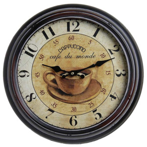 Hodiny Antique HOME 18883 Cappuccino