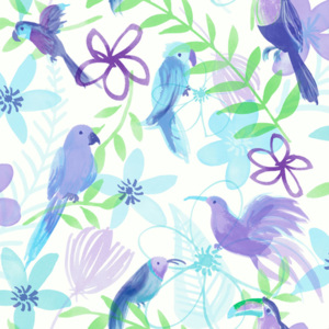 Arthouse Tapeta na zeď - Arthouse Polly Parrot Polly Parrot Purple