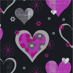 Arthouse Tapeta na zeď - Arthouse Happy Hearts Happy Hearts Black/Pink