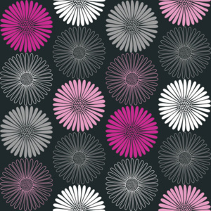 Arthouse Tapeta na zeď - Arthouse Daisy Black/Pink role 53 x 1000 cm