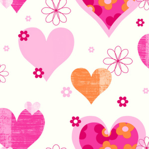 Arthouse Tapeta na zeď - Arthouse Happy Hearts Happy Hearts Pink/Orange