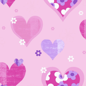 Arthouse Tapeta na zeď - Arthouse Happy Hearts Happy Hearts Pink