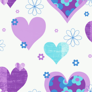 Arthouse Tapeta na zeď - Arthouse Happy Hearts Happy Hearts Purple