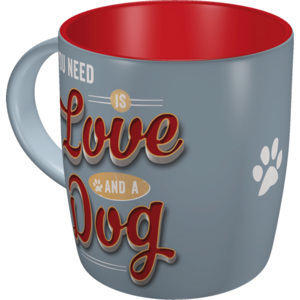 Nostalgic Art Hrnek - All You Need is Love and a Dog 330 ml