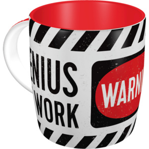 Nostalgic Art Hrnek - Warning! Genius at Work 330 ml
