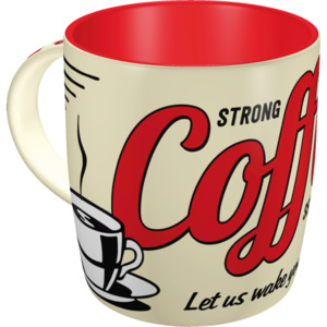 Nostalgic Art Hrnek - Strong Coffee Served Here 330 ml