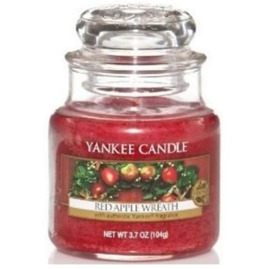 Vonná svíčka Yankee Candle Red Apple Wreath, malá 17140 Yankee Candle