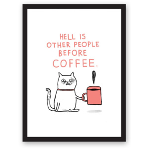 Plakát Ohh Deer Hell Is Other People, 29,7 x 42 cm