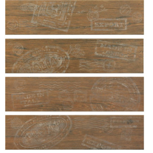 Ceramica Rondine Jungle Brown stamp mix 15 x 61