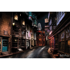 Plakát, Obraz - Harry Potter - Diagon Alley, (91,5 x 61 cm)