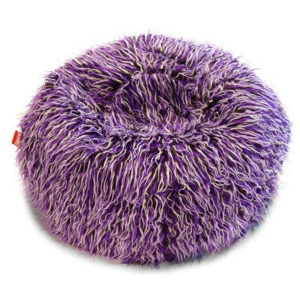 BeanBag Sedací vak Shaggy Multicolor white-black-purple
