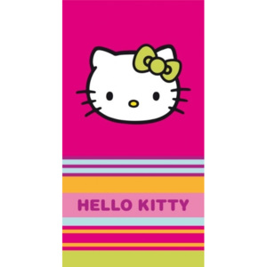 CTI osuška Hello Kitty pruhy 85 x 160 cm