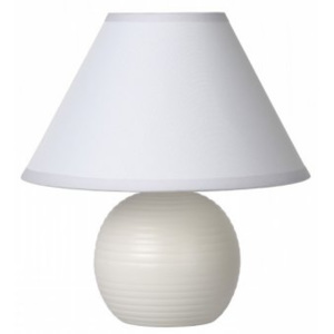 LUCIDE KADDY Table Lamp E14 H22 D20cm White, stolní lampa