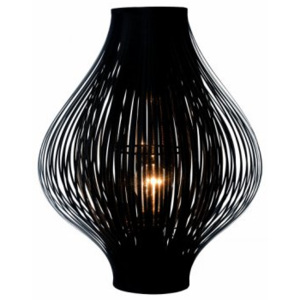 LUCIDE POLI Table Lamp E27 D36 H44cm Black, stolní lampa