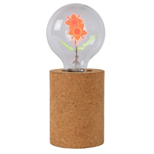LUCIDE CORKY Table Lamp Flower G80/E27/3W Brown, stolní lampa