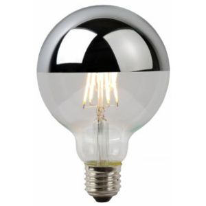 LUCIDE Bulb Reflector LED 5W Filament Dimmable, Chrome, žárovka, zářivka
