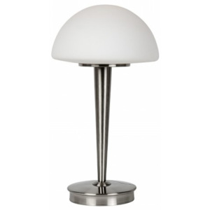 LUCIDE TOUCH Table lamp E14 D23 Opal Glass/Satin Chrome, stolní lampa