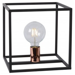 LUCIDE ARTHUR Table Lamp E27 25x25x25cm Black,stolní lampa