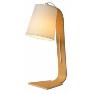 LUCIDE NORDIC Table Lamp E14 W20 H43cm Light Wood, stolní lampa