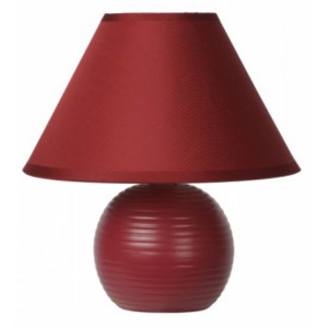 LUCIDE KADDY Table Lamp E14 H22 D20cm Bordeaux, stolní lampa